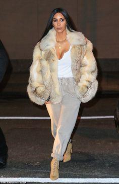 Kim Kardashian flaunts her ample cleavage in NYC post Dubai trip #dailymail
