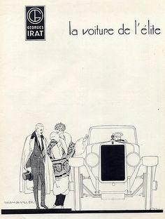 Georges Irat (Cars) 1924 René Vincent, Elegant Parisienne