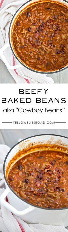 Beefy Baked Beans AKA Cowboy Beans