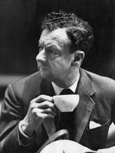 "English composer Benjamin Britten (1913-1976) taking a #tea break during rehearsals for his ""War Requiem."" 29 May 1962."