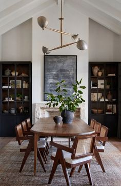 Boho Farmhouse Dining Room Decor – How do you decorate a farmhouse buffet table? Dining Room Design, Dining Room Furniture, Dining Room Table, Dining Table Lighting, Cabinet Furniture, Room Chairs, Dining Rooms, Modern Furniture, Dining Chairs