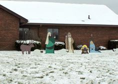 Focus on Christmas 2013 - the Manger Scene characters are part of the Eagle Scout project of Matt Cahill