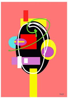 Toe Toe Fan Dan Go by Sam Freek - Contemporary art prints for the modern home - #art #artprint #abstractart #portrait