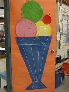 summer door for my son's 2nd grade classroom