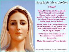 Oração Benção de Nossa Senhora.