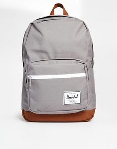 Shop Herschel Pop Quiz Backpack in Grey at ASOS. Grey Backpacks, Vegan Fashion, Women's Handbags, Purses, Women's Bags, Fashion Online, Accessories, Holiday, Gray