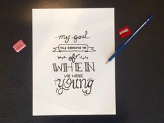 "Adele Lyrics - ""When We Were Young"" Hand Lettered Print by allisonmacey on Etsy https://www.etsy.com/listing/260796284/adele-lyrics-when-we-were-young-hand"