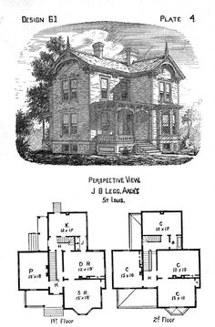 Free Antique Clip Art - Victorian Houses - The Graphics Fairy