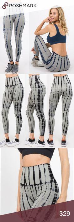 83c68dfe4db90f High waist tummy control tie dye leggings *This listing is for light gray*  High