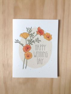 Happy Wedding Day by HartlandBrooklyn on Etsy, $4.50