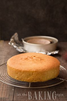 Simple Yellow Sponge Cake - foolproof recipe for a fluffy, delicious Yellow Cake that rises evenly and has a uniform crumb. It can be used for cakes and cupcakes. Yellow Sponge Cake Recipe, Sponge Recipe, Sponge Cake Recipes, Simple Vanilla Sponge Cake Recipe, Genoise Sponge Cake Recipe, Layer Cake Recipes, Easy Cake Recipes, Dessert Recipes, Milk Recipes