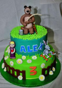 Masha and the bear - Cake by Nicoletta Celenta