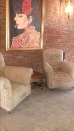 Recycle material in single sofa