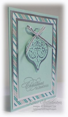 Lots of Stampin' Up! Silver in this card!  http://robinscraftroom.com/stamping/more-embossing-and-lots-of-silver/