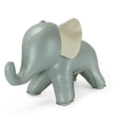 Eco Leather Elephant Bookend / Doorstop