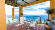 Epavlis Villa Eleni - Authentic Crete, Villas in Crete, Holiday Specialists Luxury Holidays, Crete, Patio, Outdoor Decor, Villas, Bedrooms, Home Decor, Design, Arquitetura