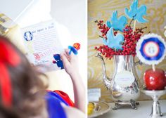 Anders Ruff Snow White party...love the cookies on sticks as part of a flower arrangement
