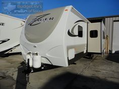 Check out this ideal super lite travel trailer with sleeping for four