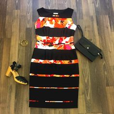STAFF PICK OF THE DAY This week we are loving the new selections from Joseph Ribkoff....what do you think of this dress? #womensfashion #cvillefashion #CHOfashion