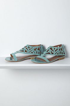 Why don't they have these in my size anymore?!?!? ... Masque Geo Sandals #anthropologie