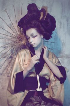 Geisha by Stefan Giftthaler, via Behance