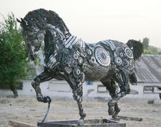 Steampunk Horse Sculpture, My Drawings, Steampunk, Horses, Statue, Rock, Art, Art Background, Skirt