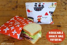 DIY Reusable Snack Bag Sewing Pattern and Tutorial. Are you ready to free yourself from throwaway plastic bags and join the reusable snack bag revolution? Bag Pattern Free, Bag Patterns To Sew, Sewing Patterns Free, Free Sewing, Easy Sewing Projects, Sewing Tutorials, Sewing Crafts, Snack Bags, Lunch Bags