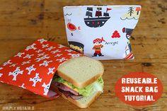 DIY Reusable Snack Bag Sewing Tutorial | Simplynotable.com
