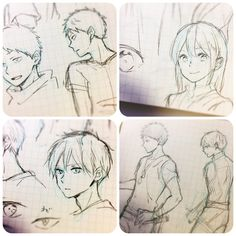 How to draw a head, eyes and a smile. Anime Boy Sketch, Anime Drawings Sketches, Manga Drawing, Art Drawings, Anime Hair, Manga Anime, Biology Art, Snow White With The Red Hair, Human Figure Drawing