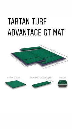 Closest feel to a real fairway. The quality and value of the Advantage GT is unmatched in the industry Golf Mats, Feelings