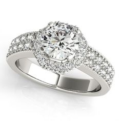 GEORGIA ENGAGEMENT RING in 18K White Gold - Price: ₹43,554.00. Buy now at http://www.solitairehouse.com/georgia-engagement-ring-in-18k-white-gold.html