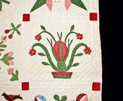 Exceptional Appliqued Album Quilt, Pennsylvania, 1862