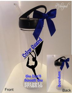 Personalized Sports Bottle for Color Guard i wan tit sooooo badddd Color Guard Memes, Color Guard Shirts, Colour Guard, Color Guard Uniforms, Band Mom, Band Nerd, Decals For Yeti Cups, Senior Gifts, Winter Guard