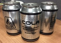 Creating a custom, clear-label printed soda can