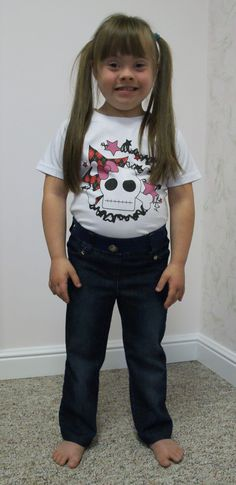 Downs designs creates clothing to fit those with down syndrome girl s