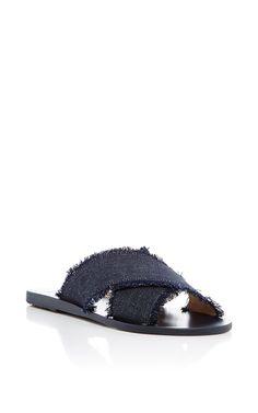 5c7e985410df3 Thais Dark Denim Slides by Ancient Greek Sandals