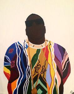 biggie by rebecca maria Arte Do Hip Hop, Hip Hop Art, Graffiti Cartoons, Black Artwork, Cartoon Crossovers, Black Girl Art, Dope Art, Expo, Urban Art