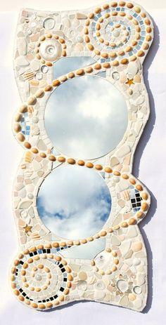 Sold, Mosaic spiral mirror.