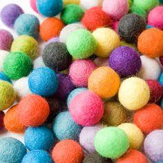 Felt studio on  Etsy. makes lots of sizes of felt balls