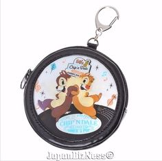 New Japan Disney Store Chip & Dale Diner Series Holograph Coin Case w/ Keychain #JapanDisneyStore