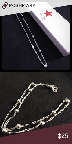 Silver necklace Only worn once or twice silver necklace. Hits collar bone. Bundling available. Jewelry Necklaces