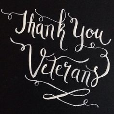 RMD Blog: Happy Veterans Day! Thank you to all veterans today and every day. We are so grateful to you. #calligraphy #moderncalligraphy #handlettering