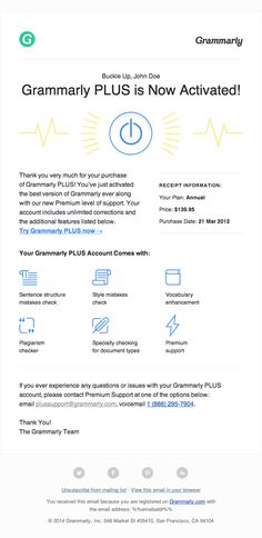 21 best congratulations email ideas images on pinterest email account activation email design from grammarly email template design email maxwellsz