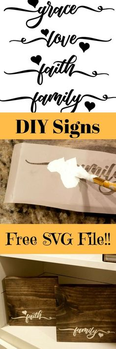 DIY wooden signs with sayings with Free Cut File! - Leap of Faith Crafting DIY wooden signs with sayings Vinyl Crafts, Vinyl Projects, Diy And Crafts, Craft Projects, Wood Crafts, Craft Ideas, Decor Ideas, Craft Tutorials, Fun Ideas