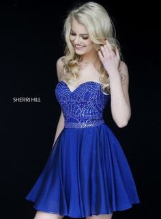 Shop prom dresses and long gowns for prom at Simply Dresses. Floor-length evening dresses, prom gowns, short prom dresses, and long formal dresses for prom. Sherri Hill Short Dresses, Sherri Hill Homecoming Dresses, Prom Dresses 2016, Quinceanera Dresses, Prom 2016, Prom Gowns, Dresses Dresses, Formal Dresses, Blue Chiffon Dresses