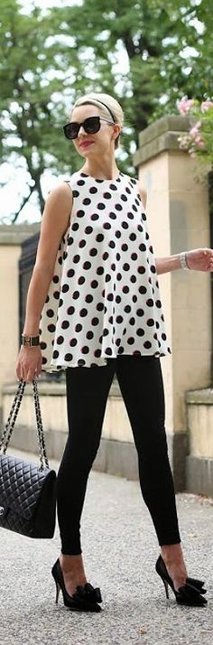 Polka Dot Swing Top