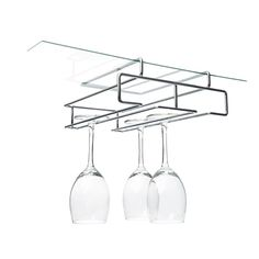 glass rack available from Neat Freak. Organise wine glasses in the kitchen or bar. Wine Glass Shelf, Floating Glass Shelves, Glass Rack, Wine Glass Holder, Shelf Holders, Long Shelf, Glass Furniture, Diy Store, Flat Ideas