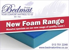 DIY projects you can afford.  Try our new Foam range, great quality and affordable prices.  Custom cut sizes, ideal for outdoor camping, caravaning or at the back of your 4x4, you say the size and we do to cutting.  Contact us for a quote on our new Foam range. #bedmat #foamrange #openingspecial