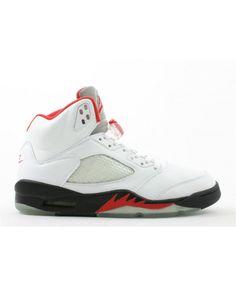 the latest f5b18 1af26 Air Jordan 5 Retro White Black Fire Red 136027 101