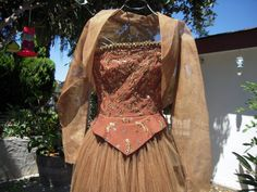 Espresso Hand Beaded OOAK Ball Gown by BeckVintage on Etsy, $195.00